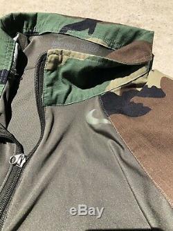 Woodland Camo Combat Shirt Nike Pro Combat DriFit Fitted Size Medium With Pants
