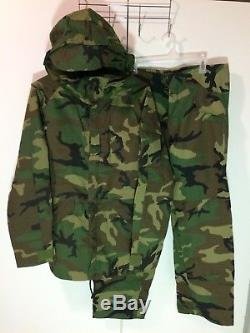Woodland Ecwcs Goretex Parka+trousers+ripstop Shirt+pants+thermals Medium Long