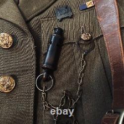 World War 2 US ROTC Army Jacket Pants Shirt Whistle