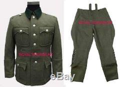 World War 2 WWII German M36 Infantry Officer Jacket Shirt Fatigue Pants Uniform