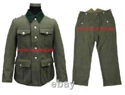World War 2 WWII German M36 Infantry Soldier Jacket Shirt Fatigue Pants Uniform
