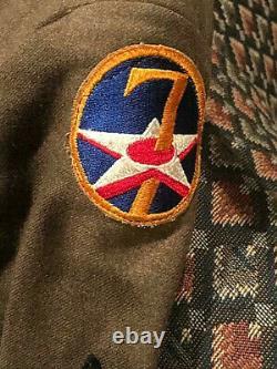 Ww2 7th Army Aircorp Jacket, Pants Shirt, Ike Jacket, Signal Flag Kit & Personal