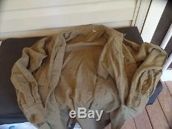 Ww2 Ike Jacket, Pants And Shirt. No Glow To Patches Or Ribbon Bar