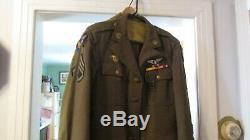 Ww2 Us Aircorp Officer Uniform- C B I- Detail, Complete Jacket-pants- Shirt-belt