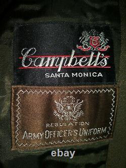 Ww2, Us Army, Pinks & Greens Officers Uniform, 37r, Jacket, Pants & 2 Shirts