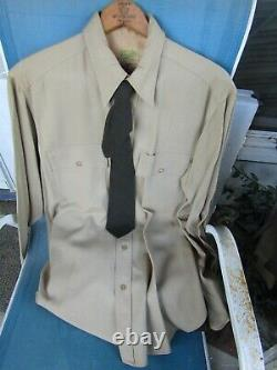 Wwii English Tailor Made Army Air Corp Ike Jacket, Shirt, Tie, Pants! Liason Wings