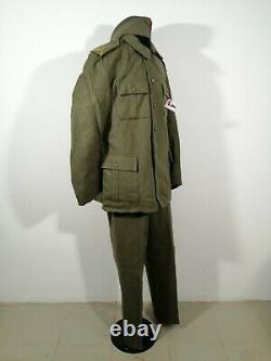 Yugoslav Peoples Army Complete Woolen Grey Uniform JNA M55 Cap Blouse Shirt Pant